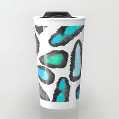 Mineral Glow Travel Mug  #minerals #art #gems #pattern #design #ocean #watercolor #travelmug #mug