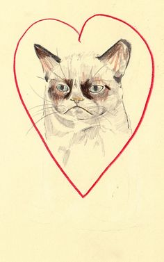 Grumpy Cat Print. Um.. can I get this on a t-shirt? and a sweater and a mug and a pin and stickers?