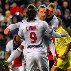 Cavani and Zlatan Ibrahimovic PSG