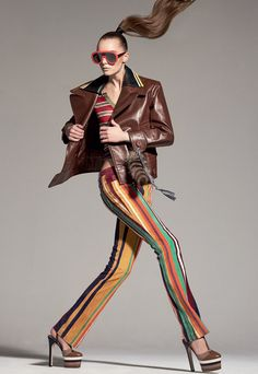 Irina Liss embraces bold stripes for Vogue Russia April 2016 by Ishi