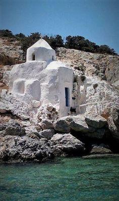 Greece, Agios Sozon Chapel on Naxos island, Cyclades