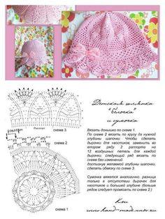 19 Ideas crochet hat baby girl stitches for 2019 Crochet Summer Hats, Crochet Kids Hats, Crochet Beanie, Knitted Hats, Crochet Chart, Crochet Stitches, Sombrero A Crochet, Knitting Patterns, Crochet Hat Patterns