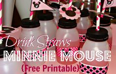 Juggling Act: Minnie Mouse Drink Flags {Free Printable}