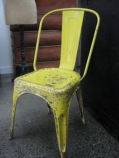 vintage yellow tolix chair http://singularmarket.com/es/sillas-vintage/140-replica-silla-tolix-colores.html