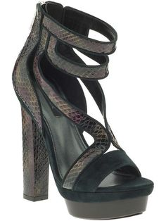 Today's So Shoe Me is the Payton by Rachel Zoe, $325, available at Piperlime. Rich forest greens and mystical iridescent finishes are just a few of the reasons why I'm dying to step into some fall footwear and with the strappy open toe Payton I can fall forward even with the fluctuating summer temps.