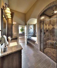 Glenwood floor plan - beautiful bathrooms - tile - shower door - walk-in shower . Glenwood floor plan - beautiful bathrooms - tile - shower door - walk-in shower - oval tub - master bath by Eva Dream Bathrooms, Beautiful Bathrooms, Master Bathrooms, Master Baths, Master Tub, Master Plan, Master Bedroom, Diy Bathroom Remodel, Bathroom Ideas