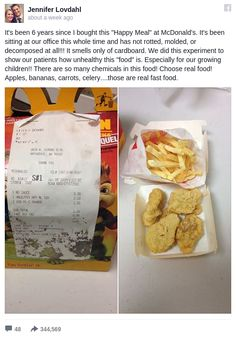 What Happens When You Leave a Chicken McNuggets Happy Meal out for 6 Years