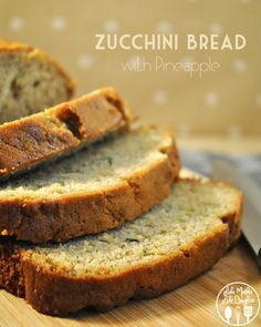 zucchini bread with pineapple - a delicious and moist sweet zucchini bread, with pineapple too!