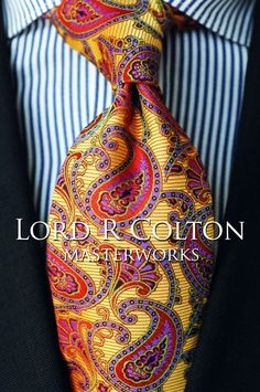 Lord R Colton Masterworks Tie - Cafayate Gold Woven Silk Necktie - $195 New #LordRColton #NeckTie