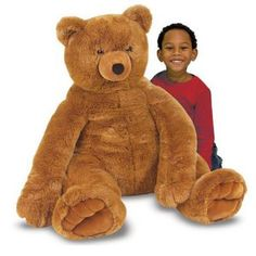 Great Big Teddy Bear Plush Animal Day needs a Great Big Teddy as a part of the group! Here his is! #Ad #JusrForFun #BellaAtto #ToGiveIsBeautiful