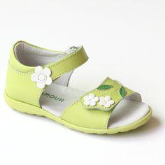 L'Amour Girls Floral Toe Strap Sandal