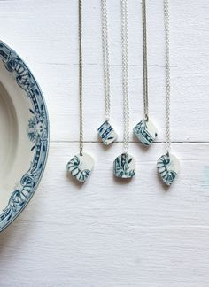 Ceramic Pendant Necklace made of Antique by FrenchAtticFinds