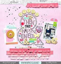 Check out this amazing LO created by designer Created with kits :: exclusive cut file Scrapbook Journal, My Scrapbook, Smash Book Pages, Hip Kit Club, Image Layout, American Crafts, Color Of Life, Scrapbooking Layouts, Mini Albums