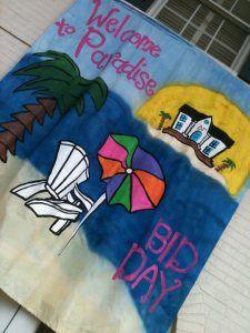 Welcome to Paradise bid day theme