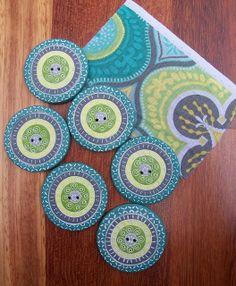 polymer clay buttons made to coordinate with this specific fabric - Flickr - Photo Sharing!