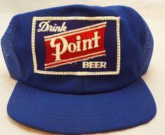 6faad356 rare New Vtg Hat Mesh Trucker Cap Drink Stevens Point Beer Brewery  Wisconsin Beer Brewery,