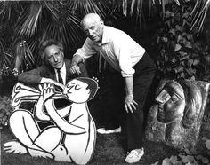 Cocteau et Picasso à la Californie, Anonyme