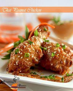 #HEALTHYRECIPE - '0' Oil Baked Thai Chicken in Homemade Creamy Peanut Sauce