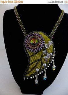 Spring sale Free Shipping  Bead Embroidery Necklace