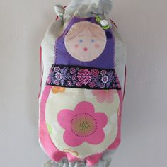 sac à sacs matriochka rose et violette