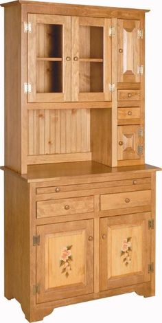 This pine Hoosier hutch cabinet is perfect for your country kitchen and farmhouse. Call today to get an order started for DutchCrafters pine wood furniture all Pine Wood Furniture, Home Decor Furniture, Kitchen Furniture, Furniture Design, Children Furniture, Simple Bed Designs, Beds For Small Spaces, Wood Bed Design, Sofa Set Designs