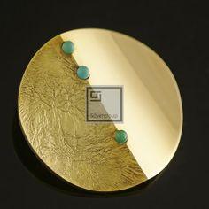 Danish Gold Brooch w Turquoise Bent Gabrielsen Vintage | eBay