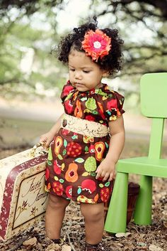 I love there little girl dresses