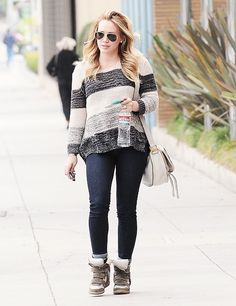 hilary duff, her outfit is cute too