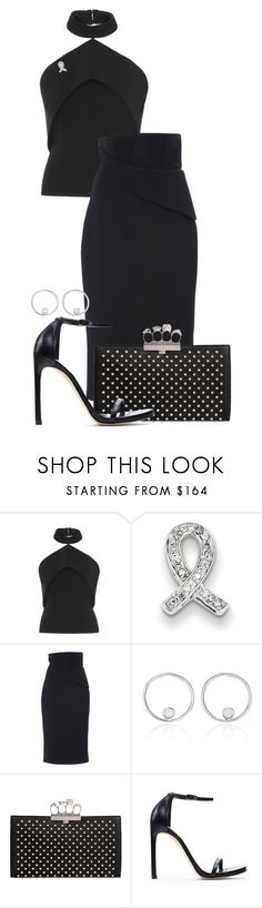 """""""My Fantasy Wardrobe"""" by neuroticfashionplate ❤ liked on Polyvore featuring Brandon Maxwell, Kevin Jewelers, AS29, Alexander McQueen and Stuart Weitzman"""