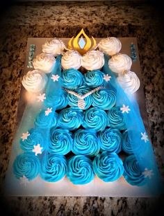 Elsa dress cupcake cake.