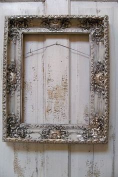 French provincial frame ornate putty white by AnitaSperoDesign, $170.00