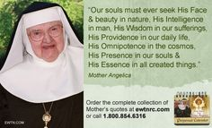 MotherAngelica #EWTN #Catholic