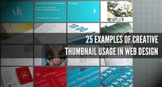25 Examples of Creative Thumbnail Usage in Web Design