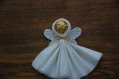 Homemade Ferrero Rocher Napkin Angel by my_amii, via Flickr