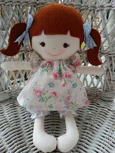 My friend Poppya handmade rag doll by DandelionWishesMimi on Etsy