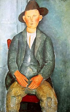 Le jeune paysan, vers 1918, Amedeo Modigliani, Londres, Tate Gallery
