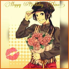 So .. Happy Birthday China ! X3333