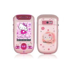 Hello Kitty Mobile Phone - Hello Kitty 328 Cartoon Cell Phone -... ❤ liked on Polyvore featuring hello kitty, phones, electronics, accessories and fillers