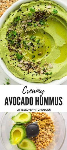 Avocado Hummus, Avocado Toast, Avocado Spread, Healthy Nutrition, Healthy Snacks, Healthy Eating, Vegetarian Recipes, Cooking Recipes, Healthy Recipes