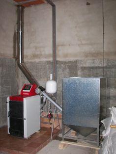 Esta es de las primeras instalaciones que realizamos. El dueño utilizaba cascara de almendra. (2008)