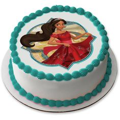 "Check out Elena of Avalor 7.5"" Round Edible Cake Topper (Each) 