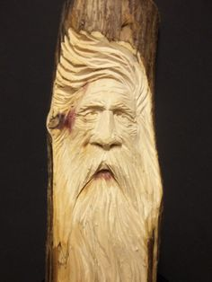 this woodspirit is hand carved by me. woodcarving is a passion of mine and carved wood is what i love. this carving was done in a juniper limb