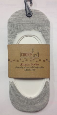 Hide a Little Alpaca in Your Shoes These no-show alpaca socks give you the comfort, warmth and breathability of Baby Alpaca without showing at all! An easy, useful alpaca product which will have your