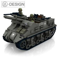 Custom Instruction M7 Priest Artillery Tank Wwii WW2 PDF Made OF Lego® Brick | eBay