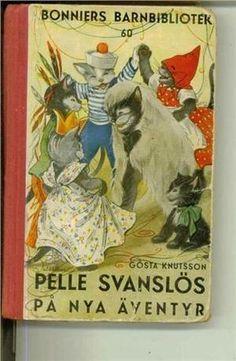 """""""Pelle Svanslös på nya äventyr"""" av Gösta Knutsson Reading, Cover, Books, Art, Livros, Art Background, Libros, Word Reading, Kunst"""