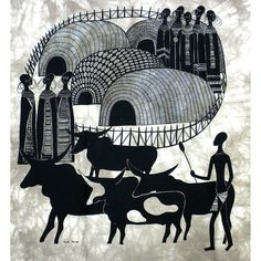 Maasai Manyatta Heidi Lange Screen Print (Kenya)