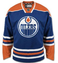 Edmonton Oilers Official Home Reebok EDGE Authentic NHL Hockey Jersey (Made  In Canada) Nhl f71ebc191