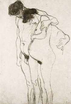 Gustave Klimt Pregnant Woman and Man