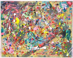 Jackson pollock, links with my theme of water drops