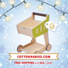 Plan Toys Shopping Cart  **All Toys 20% at cottonbabies.com!